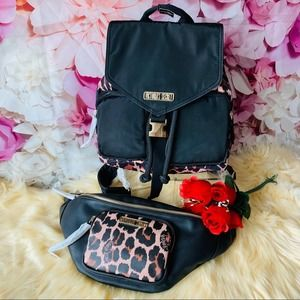 Victoria's Secret Leopard Backpack And Hip Bag